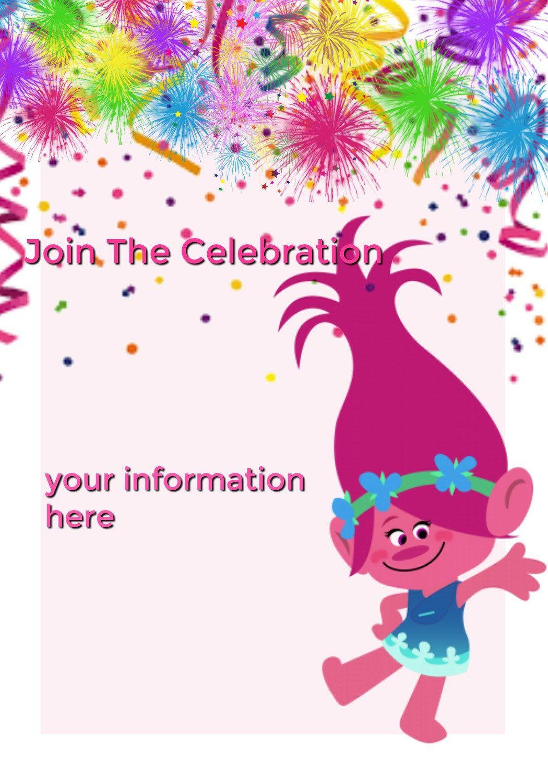 Trolls birthday party invitationtrolls downloadable invitation trolls birthday party invitationtrolls downloadable invitationtrolls custom birthday invitationtrolls monicamarmolfo Image collections