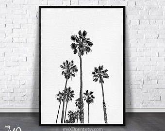 Tropical Print Black And White