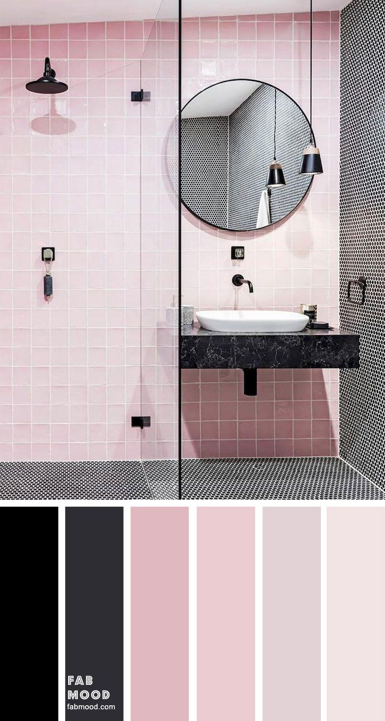 8 Beautiful Color Schemes For Bathroom Color Ideas Black Pink In 2020 Bathroom Color Schemes Bathroom Color Bathroom Colors