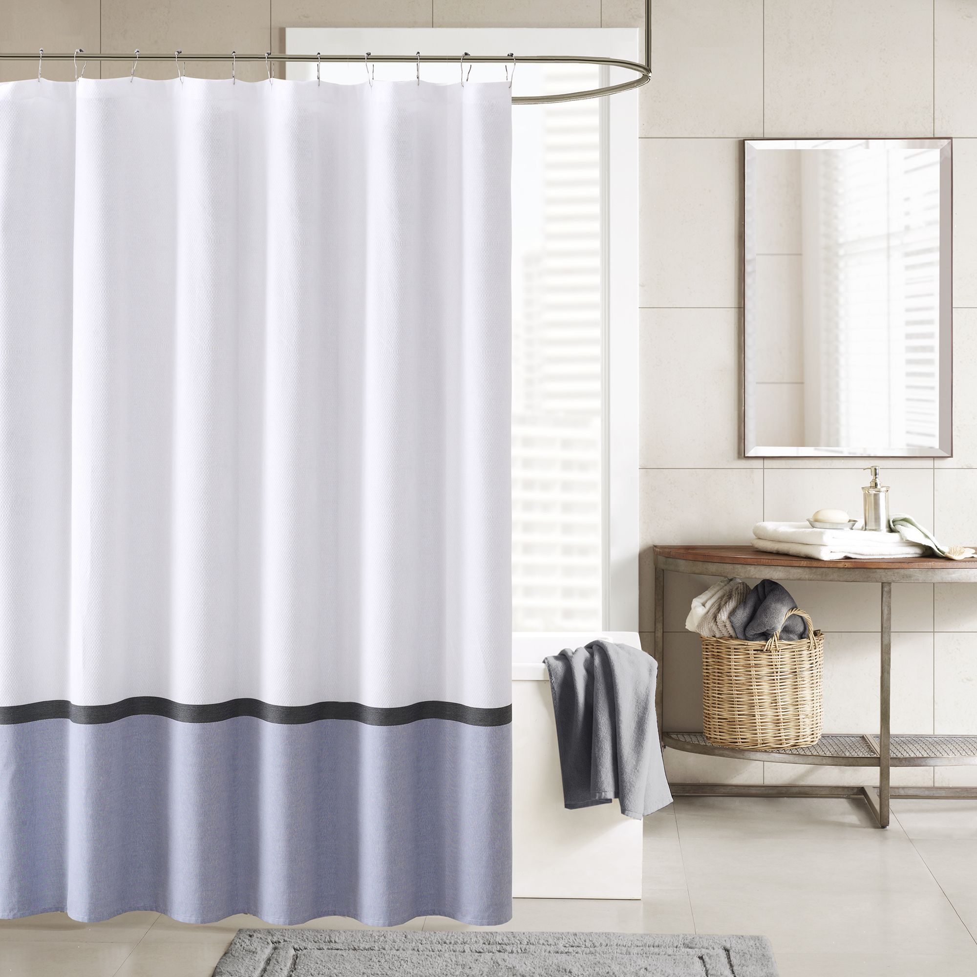 grommeted chambray rust colored dfohome outdoor sunbrella curtain curtains amazing