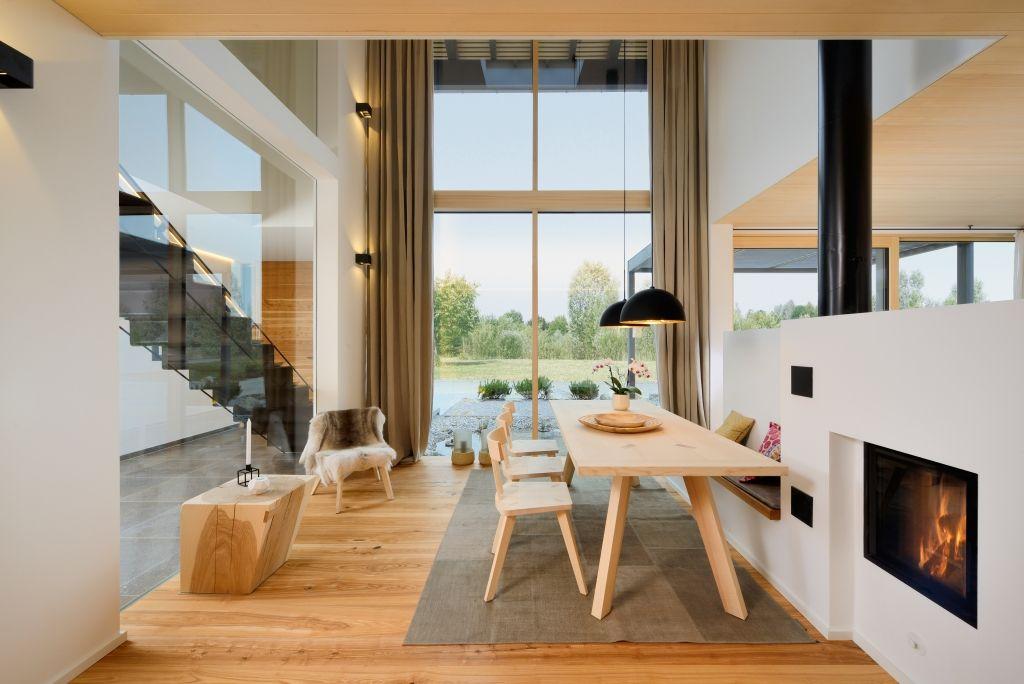 Vom Heustadl zum Wohnhaus - das Bau-Fritz Haus Alpenchic Katalog - esszimmer modern beige