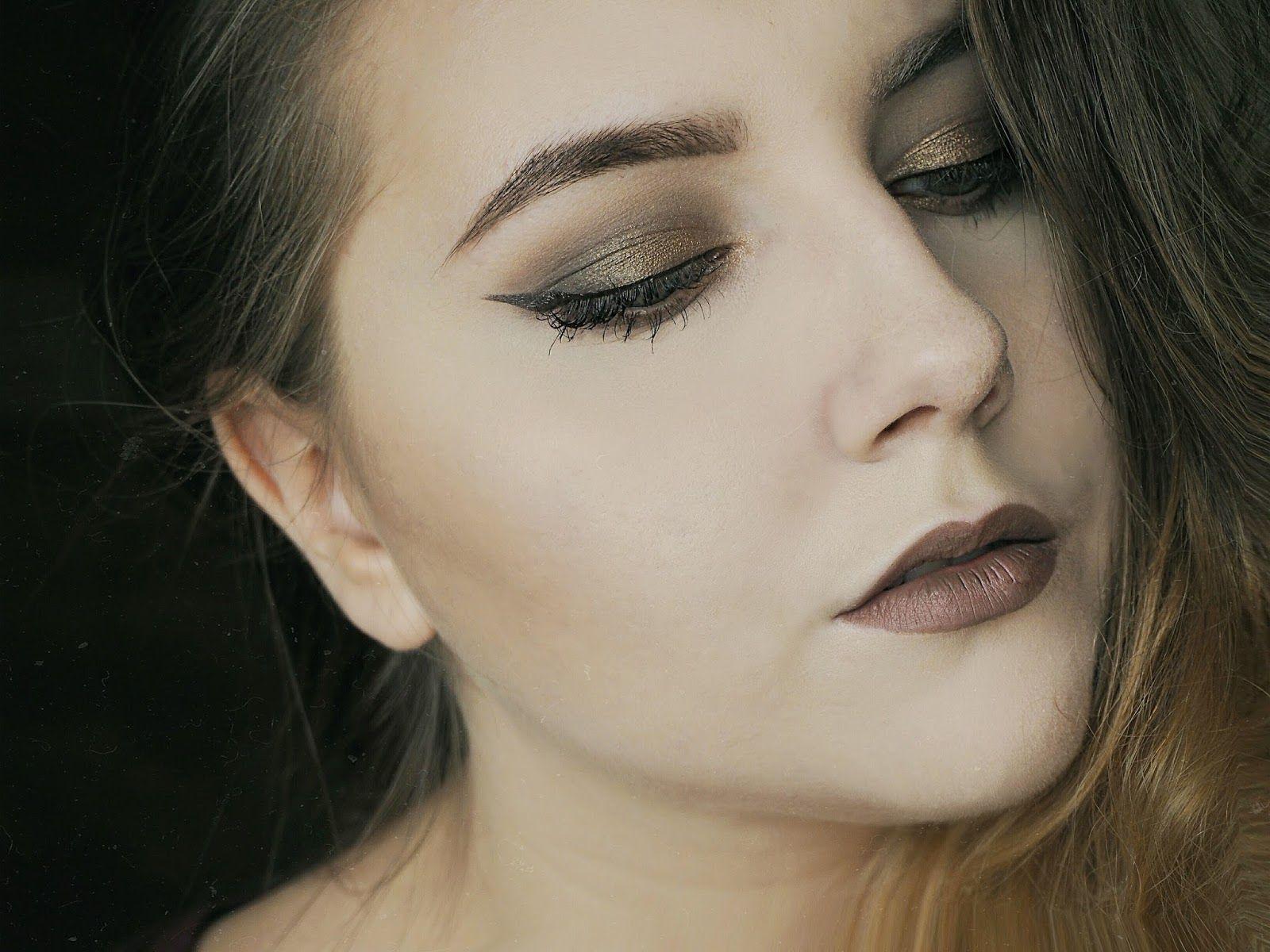 Makijaż Na Jesień Jesienny Makijaż Brąz I Złoto Smoky Eyes