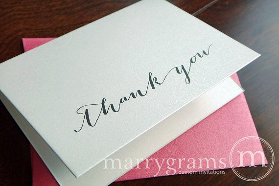 Wedding Thank You Cards  Bridal Shower Thank You Notes Or For
