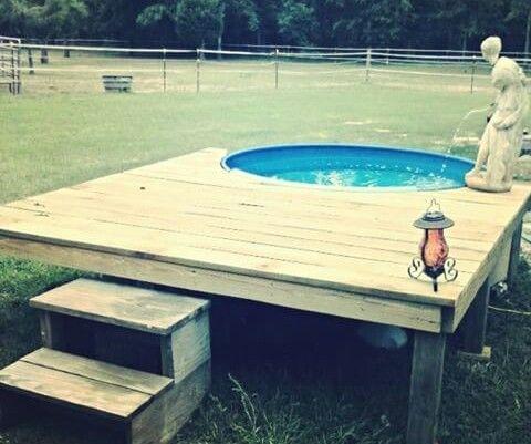 Deck Finished Watertroughpool Redneckswimmingpool Stock Tank
