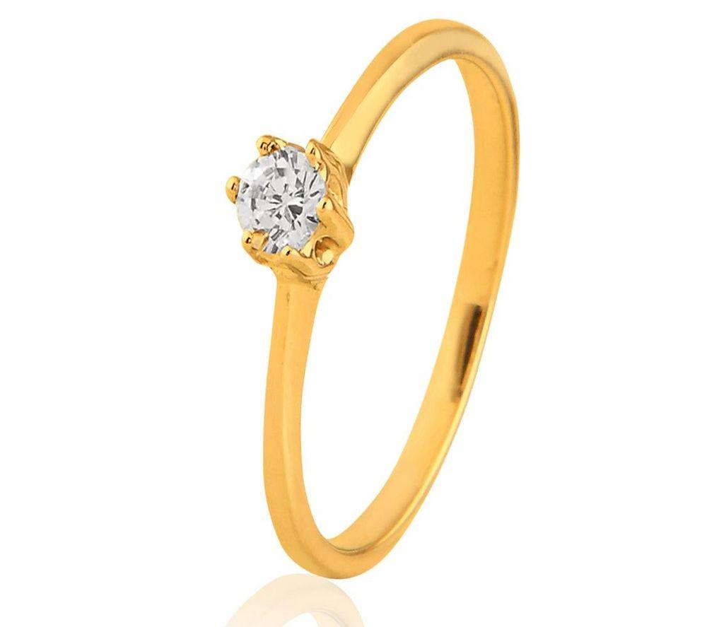 CARASHOP Solitaire diamant et or jaune 18 carats prix promo Bague Carrefour Online 699.00 € TTC au lieu de 935 €
