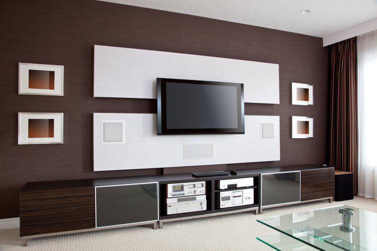 mit kabelkanälen in medienmöbeln lassen sich die lästigen kabel ... - Wohnzimmer Ideen Beamer