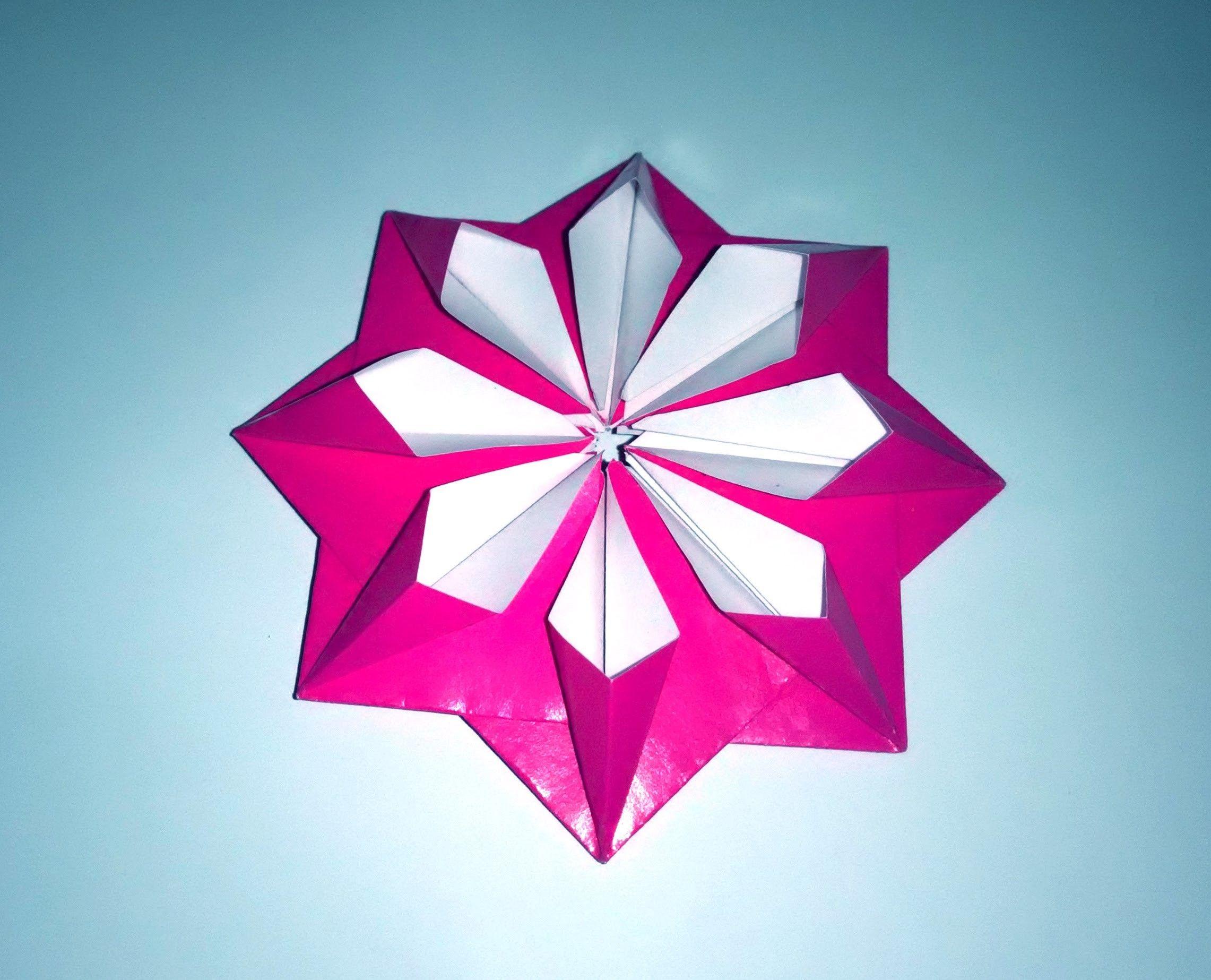 Very easy paper flower 3d paper flower decor origami modular very easy paper flower 3d paper flower decor origami modular flower mightylinksfo