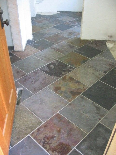 Brick Bond Tile Diagonal Tile Pattern Offset Tile Pattern Contemporary Laundry Room