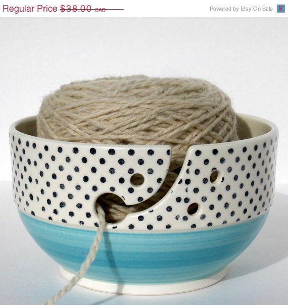 Bol à tricot bol à fil en céramique grand format par Auboutdurang 38
