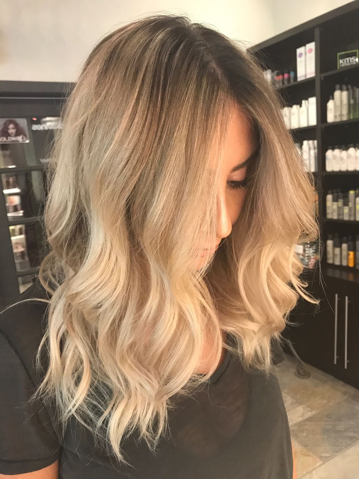Blonde Balayage Ombre Highlights Shadow Root Love This Hair Long