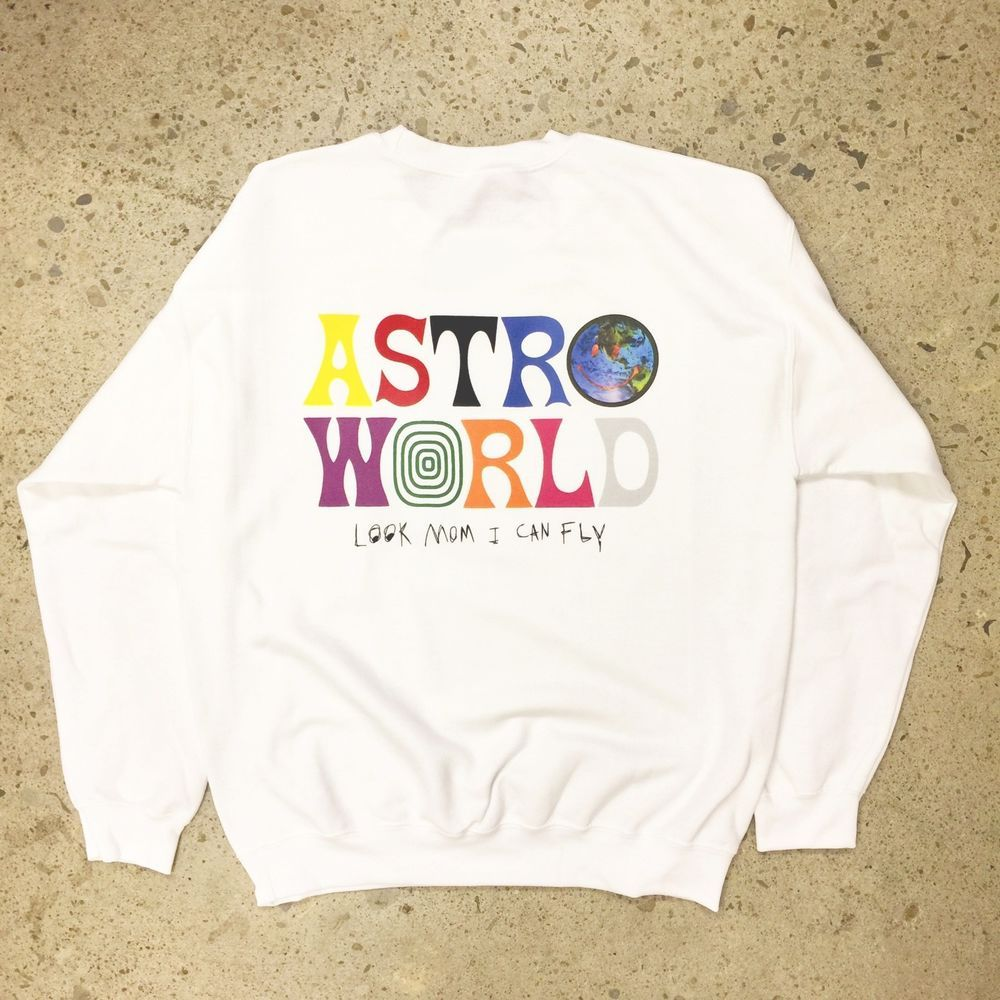 f4049a8f576b TRAVIS SCOTT ASTROWORLD SWEAT-SHIRT white tour off concert merch t hip hop  hoody@ebay @pinterest #fashion #shirt #men #model #dress #style