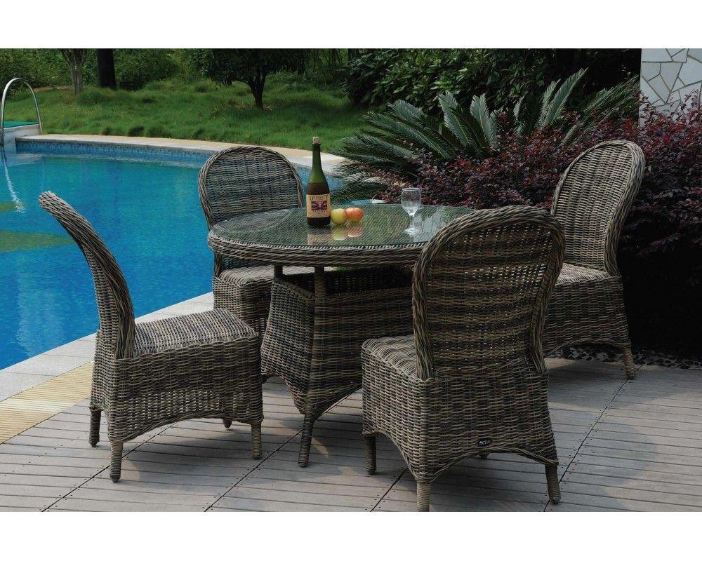 Salon de jardin table ronde en resine   Maisons et jardins   Pinterest