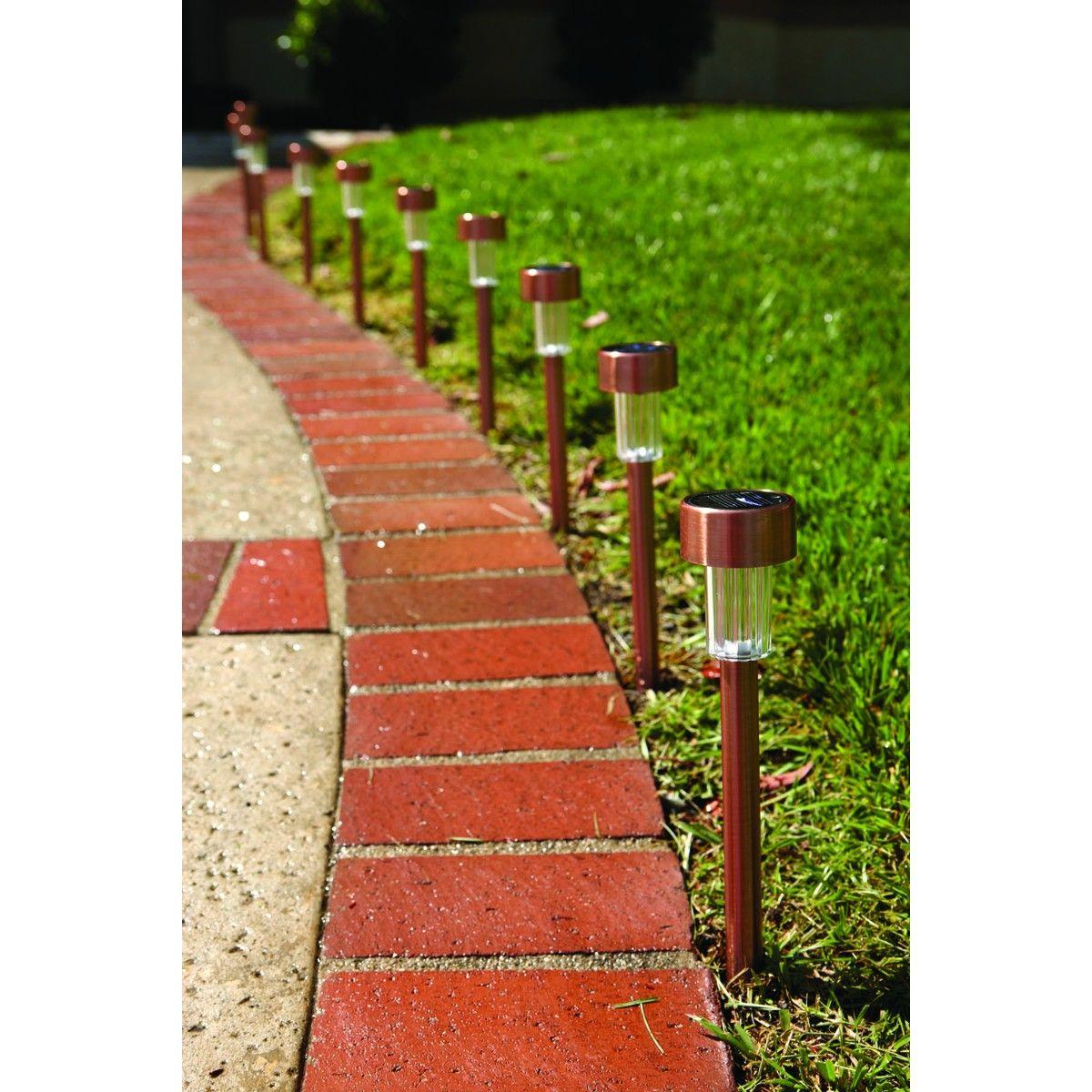 Solar Copper Led Path Lights 10 Piece Wish List Led Path Lights Path Lights Solar Pathway Lights