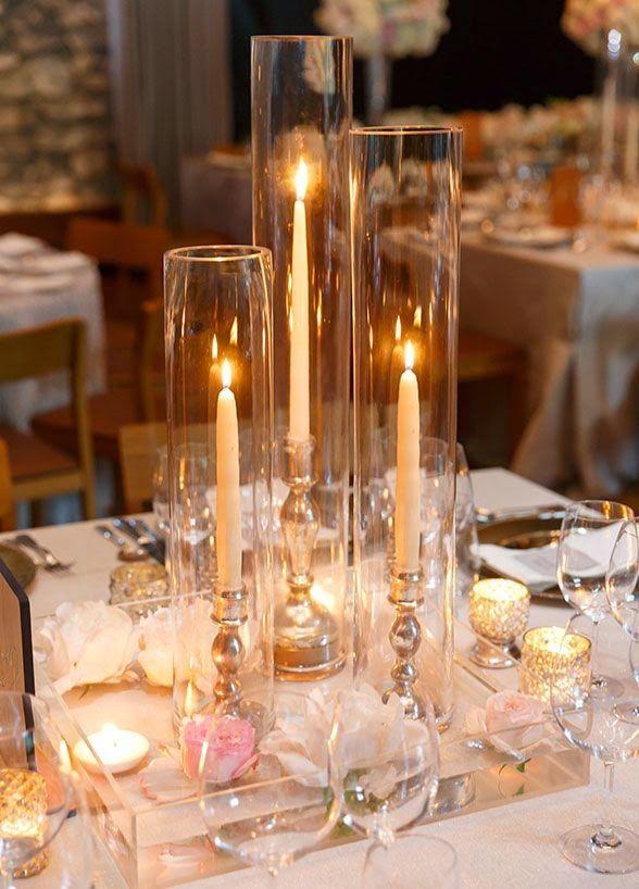 31 centros de mesa para boda con velas, ¡todo inspiración! Centros - centros de mesa para bodas