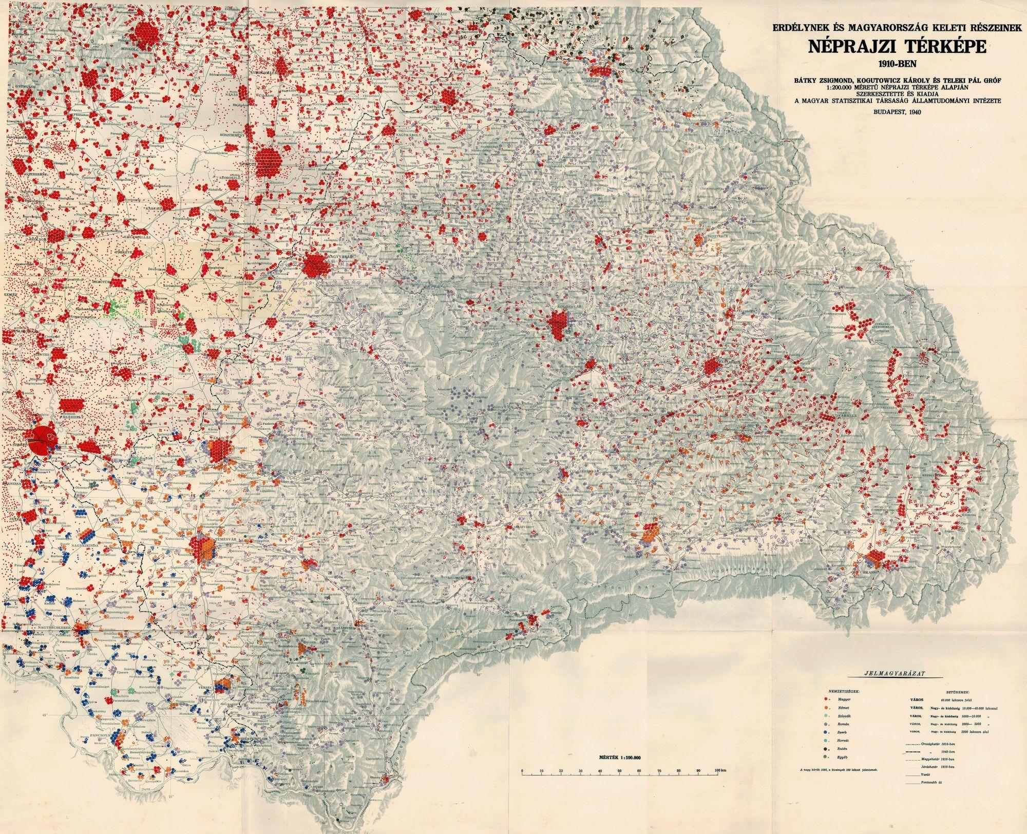 Ethnic map of 1910 transylvania an eastern hungary budapest 1940 ethnic map of 1910 transylvania an eastern hungary budapest 1940 gumiabroncs Choice Image