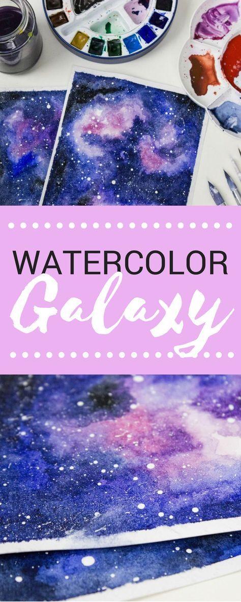 Galaxie in Aquarell #wasserfarbenkunst