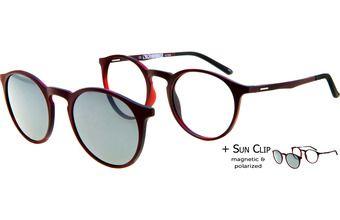 a6b8d01969 PlastiFlex Clip-On Best Bordeaux et écaille rouge mat | Glasses ...