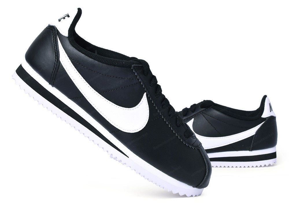 605ed9e3bf52 Nike Classic Cortez Leather Women s Casual Shoes Black Running Walk  807471-010  Nike  RunningShoes