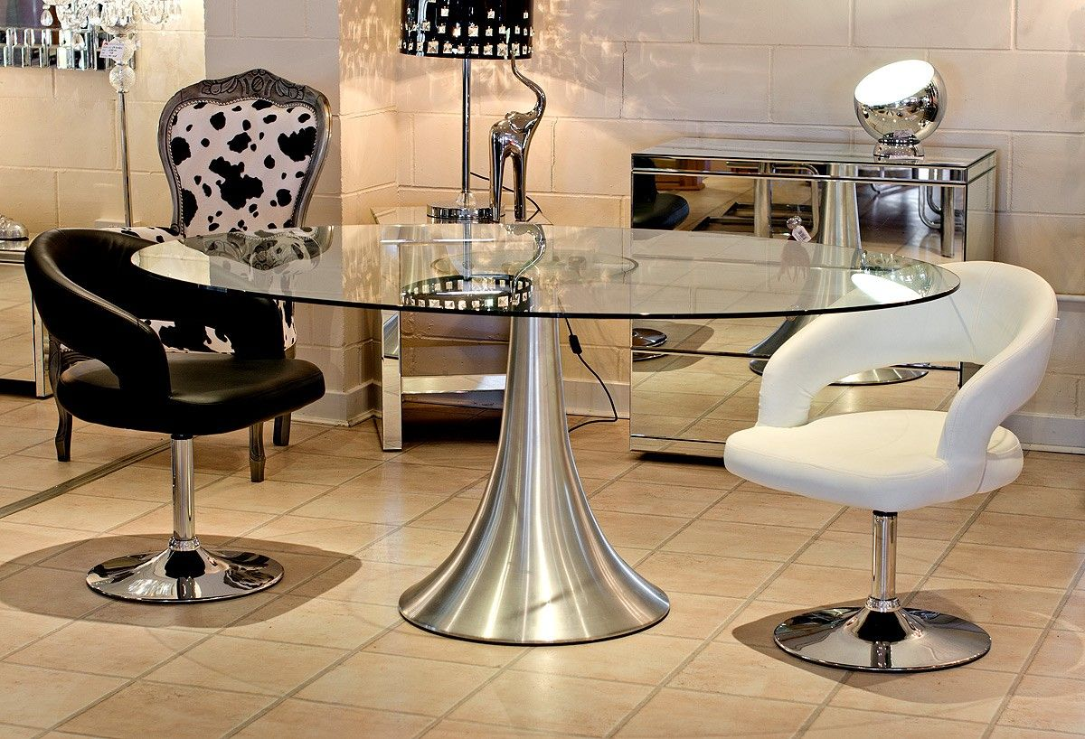 Oval Glass Top Pedestal Dining Table Glass Dining Table Modern Glass Dining Table Dining Table