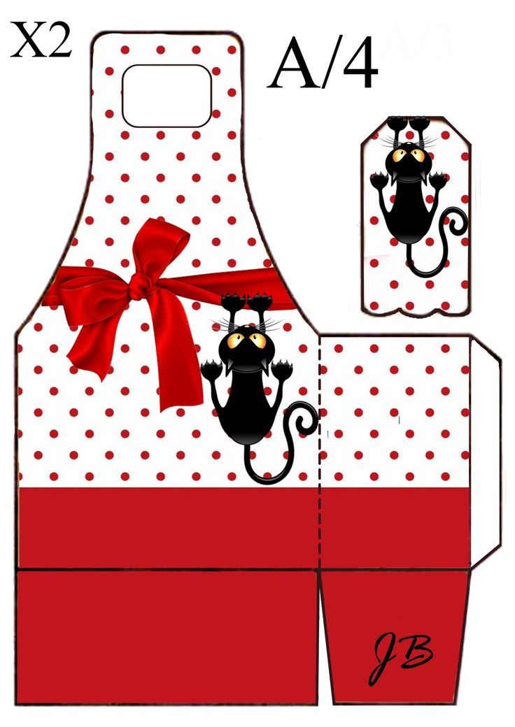 Image Result For Cat Christmas Box Clipart Box Template Printable Box Templates Printable Free Gift Box Template