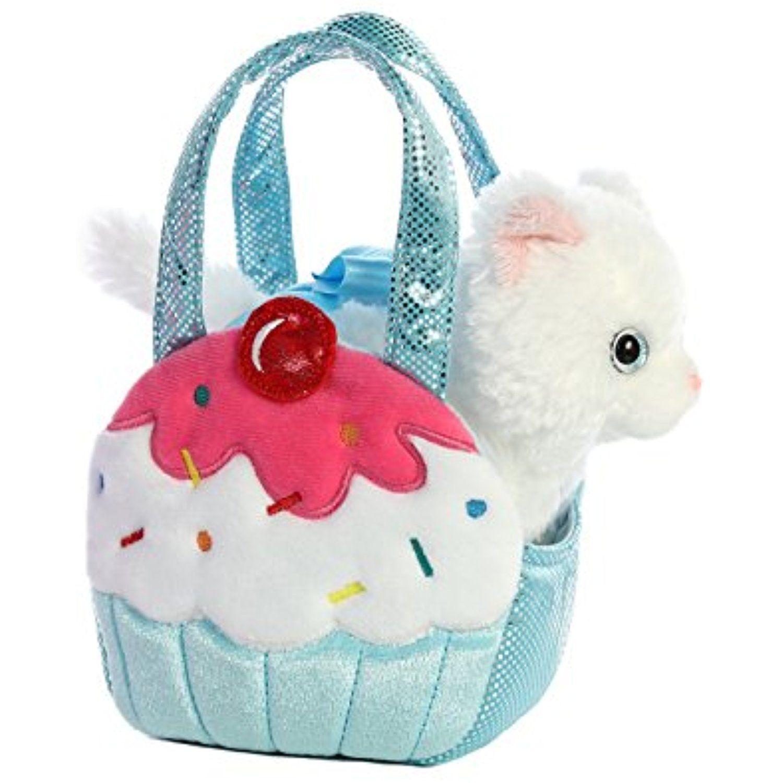 Aurora World Fancy Pals Pet Carrier Sweets Cupcake Stuffedanimalsplushtoys Pet Carriers Cat Plush Stylish Bags Design