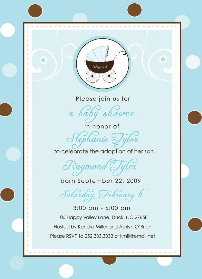 Blue and Brown - Baby Shower\\/Adoption Shower Invitation.   Adoption ...
