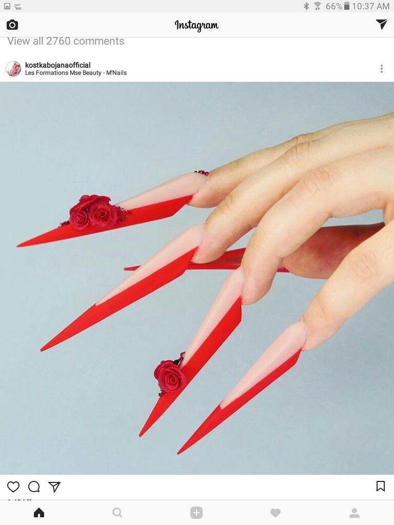 Pin by Olivia Rosemary on Big nails | Pinterest | Stiletto nail art