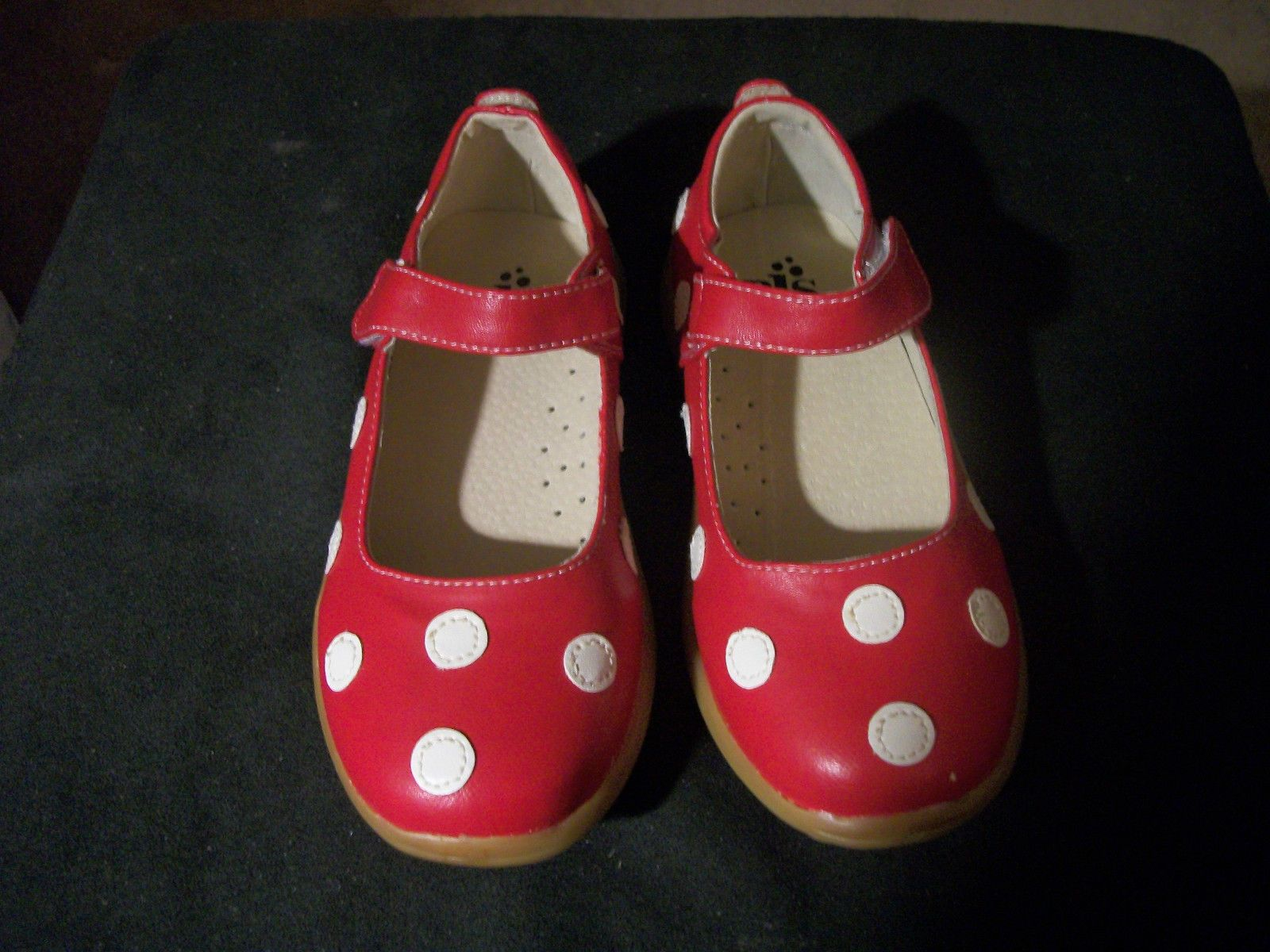Puddle Jumper Shoes Red With White Polka Dots| Little Cousins Boutique Items@ www.thelittlecousins.com get ready for the Holidays early