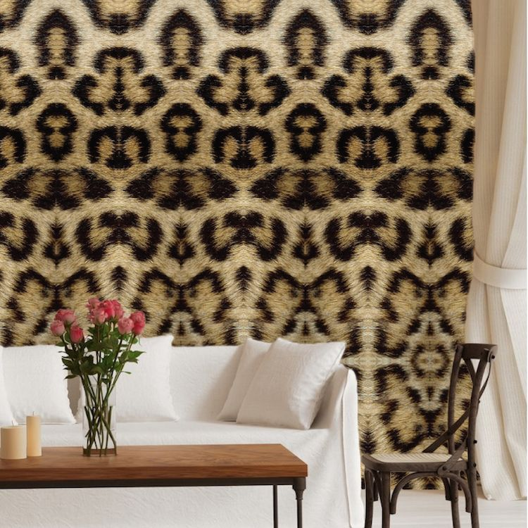 Leopard Removable Wallpaper Self Adhesive Decals | Bedroom ...