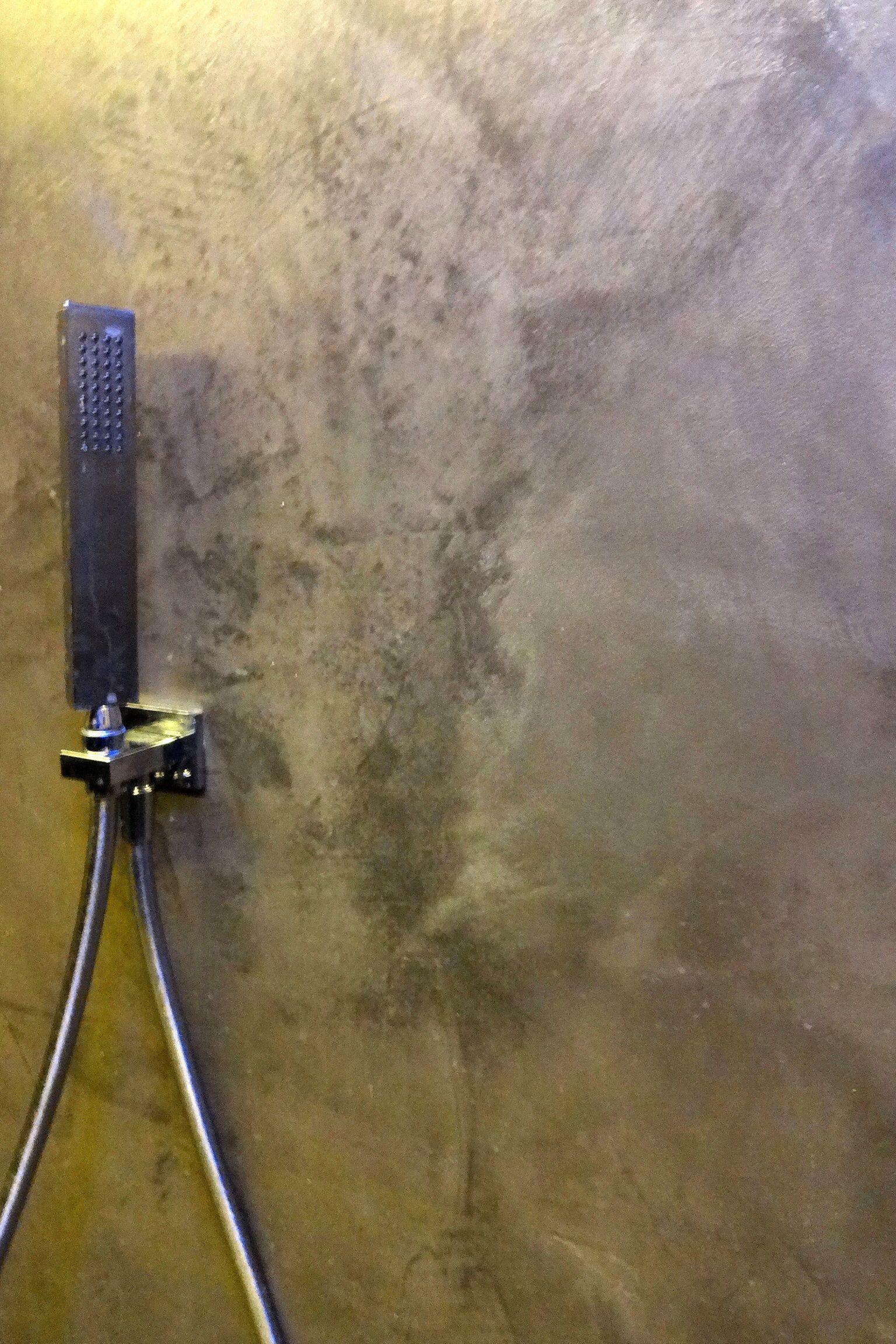 Stuc deco stoopen meeus betonlook tadelakt beton cire look beton stuc behandelen verf - Doucheruimte deco ...