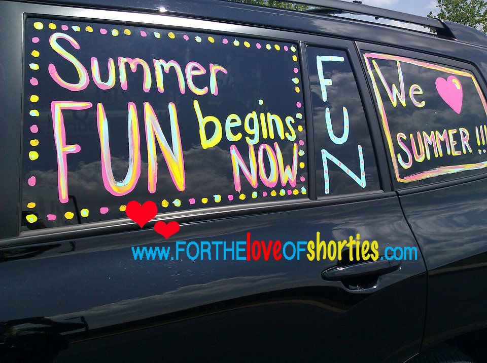 Last Day of School Ideas | Car window paint, Last day of ...