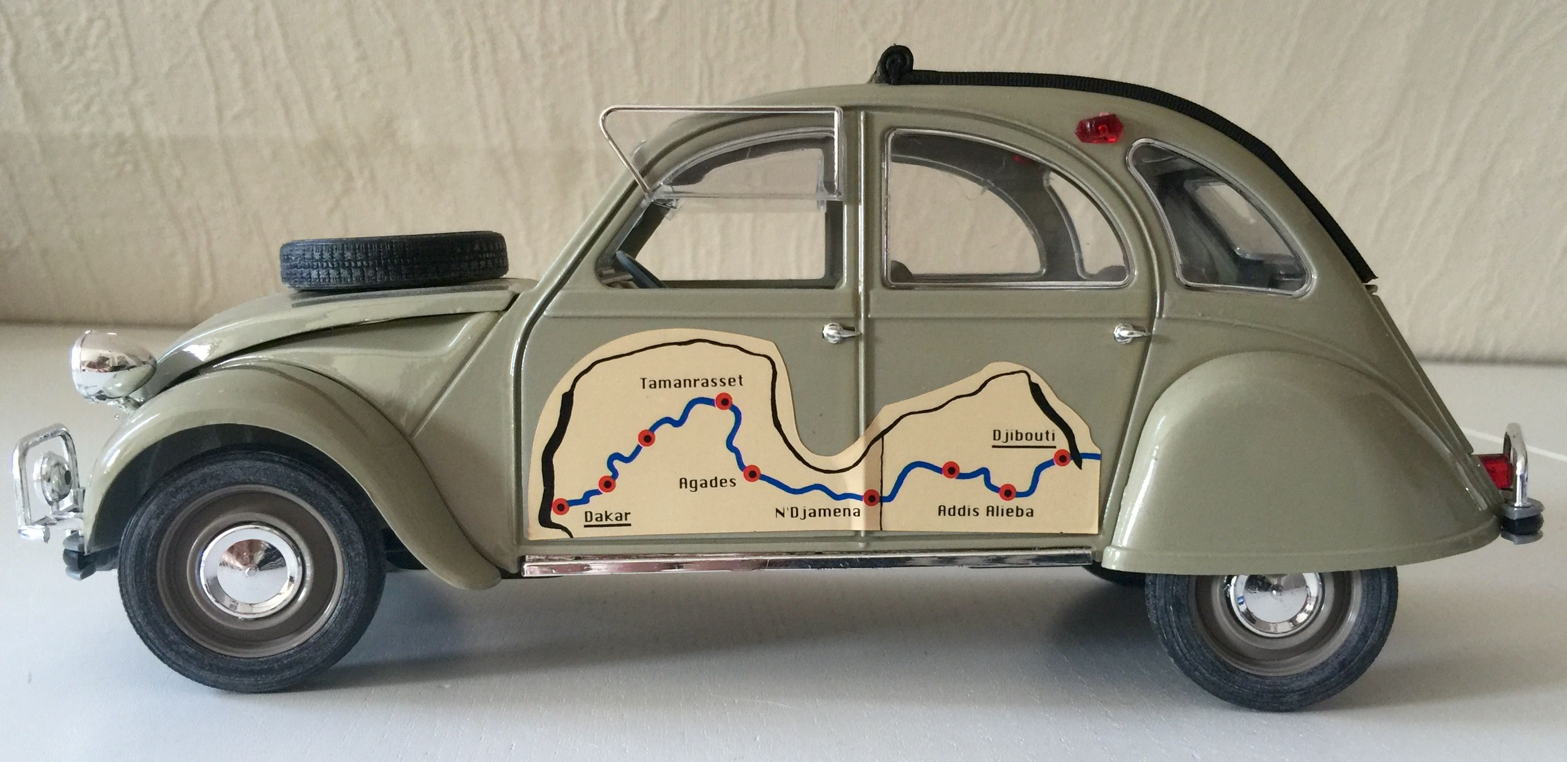 Citroen 2cv Rallye Dakar Djibouti 1 17 Solido Car Model Toy Car Classic Cars