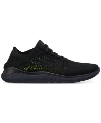 3c954c694a2d Nike Men s Free Run Flyknit 2018 Running Sneakers from Finish Line - Black  11.5