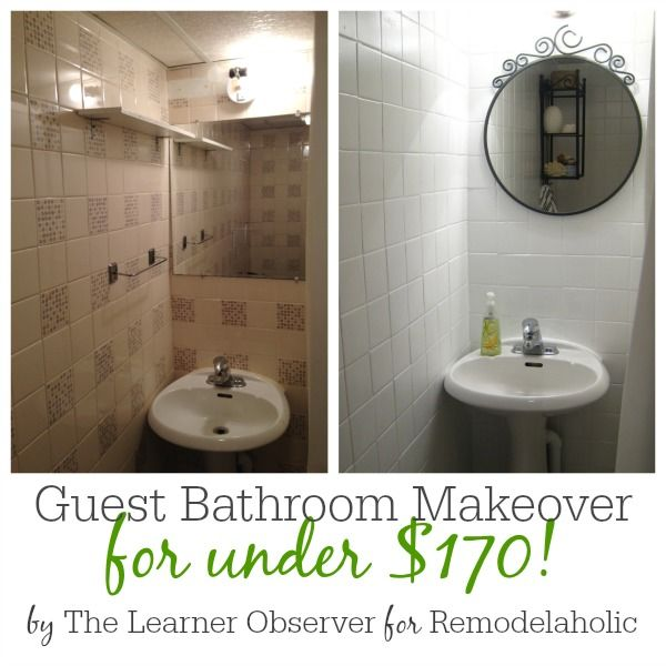 A $170 Bathroom Makeover With Painted Tile