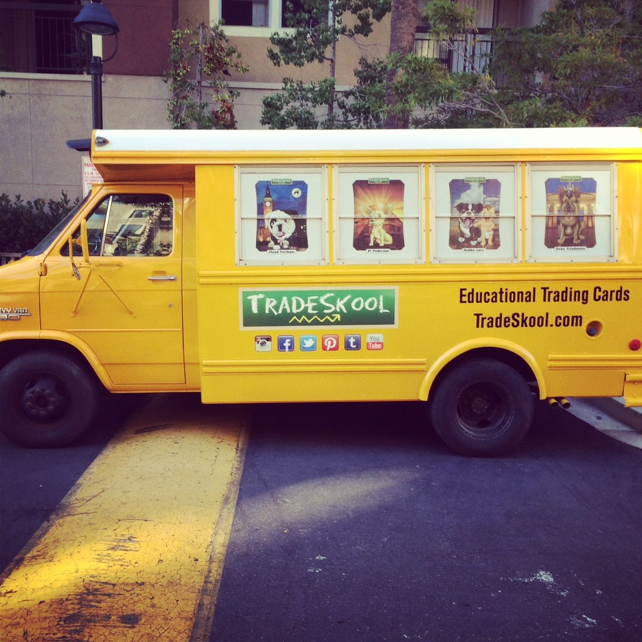 Check out our new wheels! The TradeSkool bus is out and about in San Diego promoting our official TradeSkool Launch Party!