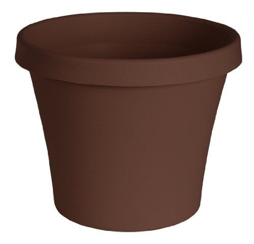 Fiskars 50312ch Terrapot 12 Inch Chocolate By Fiskars 8 98 Rolled Lip For Added Durability And Self Centering Tray So Resin Planters Planter Pots Planters