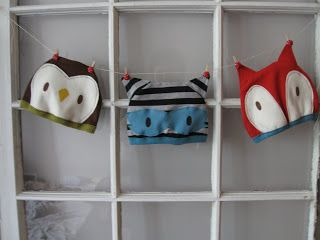 animal hats Pattern and Tutorial - by Moth and Sparrow