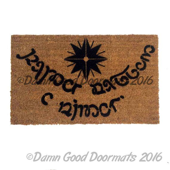Wedding Gifts For Nerds: Speak Friend And Enter ONE Color Doormat