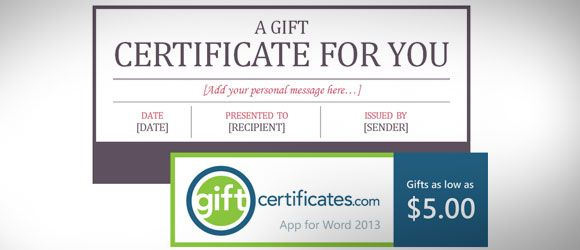 Editable Gift Certificate And Coupon Design Template For Microsoft