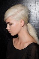 platinium hair dark brows