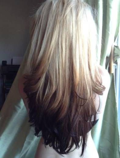 Reverse Ombre Hair With Perfect Fades Into Browns And Blacks