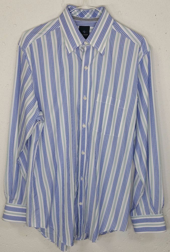 Details about Tailorbyrd Collection Mens Striped 100% Cotton Long ...