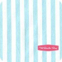 Pastel Pop Aqua Clown Stripe Yardage SKU# CX3584-AQUA-D