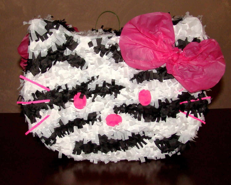 Hello kitty zebra party zebra hello kitty with pink bow birthday