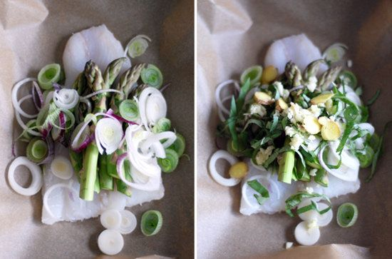 A Fast And Easy Must Make Cod With Asparagus En Papillote