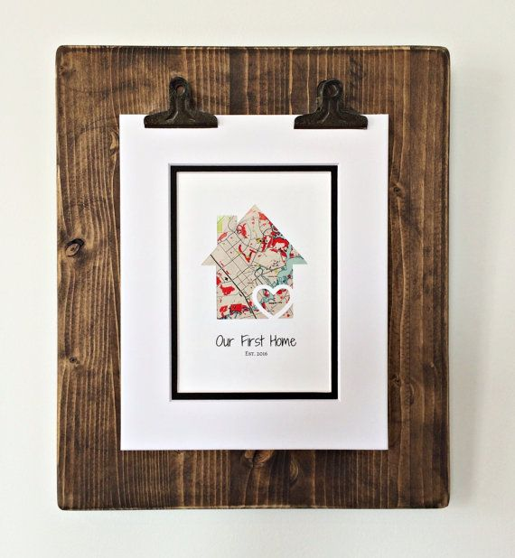 Our First Home Personalized Home Map Matted Gift By Handmadehq Our