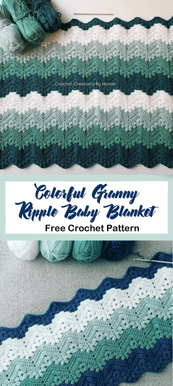 Free Baby Blanket Crochet Pattern – Granny Ripple - A More Crafty Life