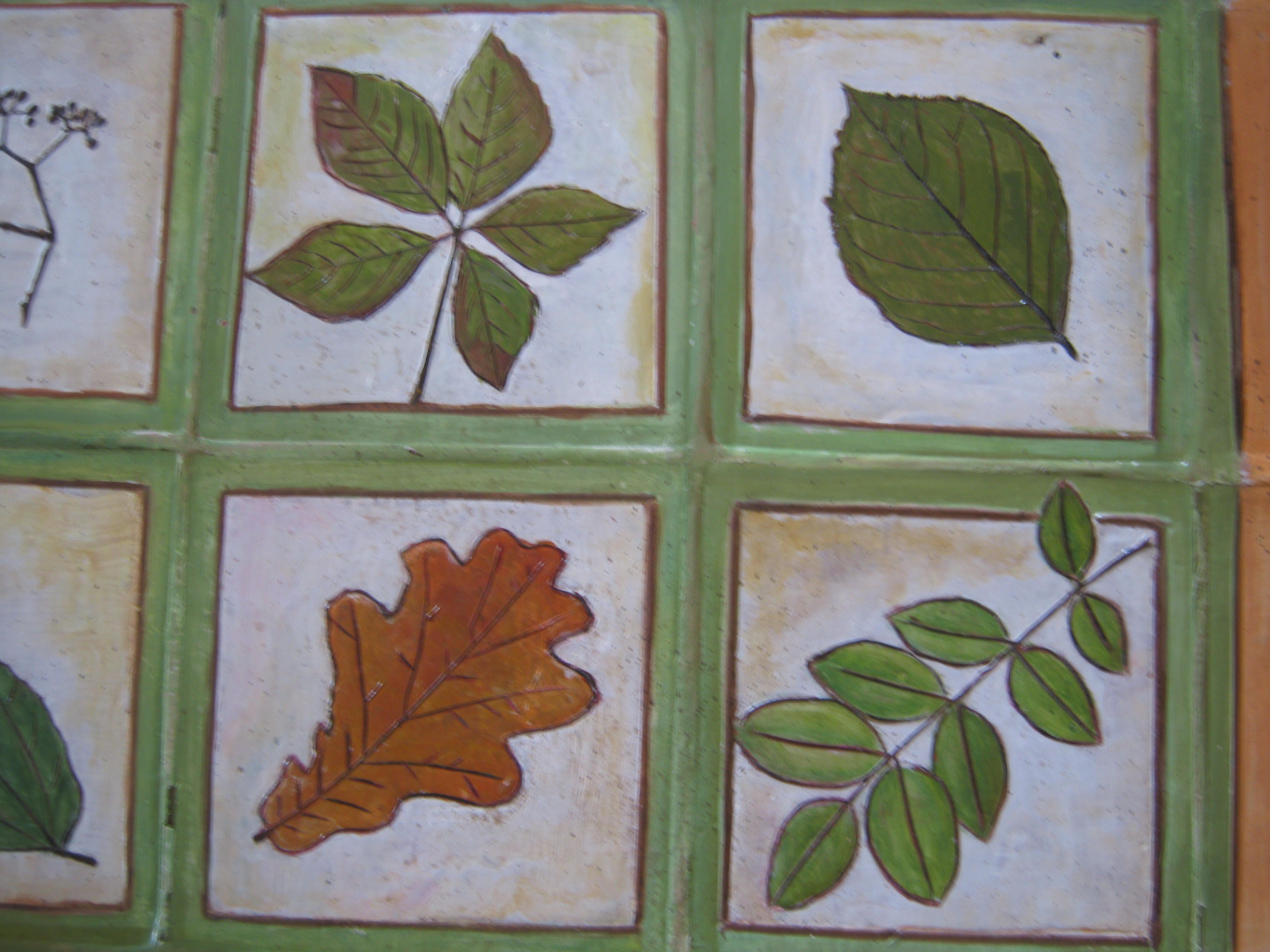 Mattonelle di terracotta per il piano di un tavolo da giardino