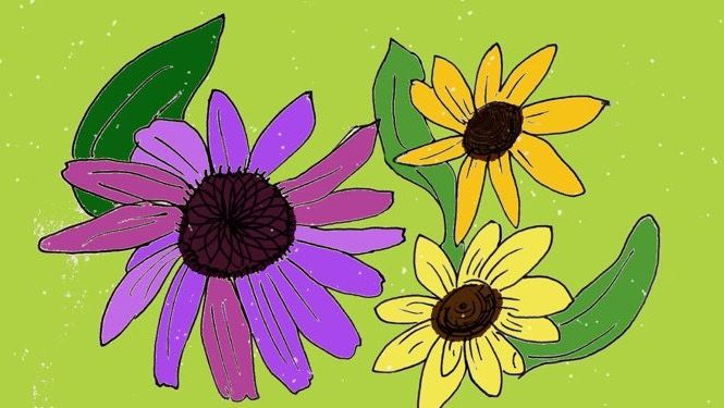 """""""Happy Flowers"""" by Danielle Rosaria"""