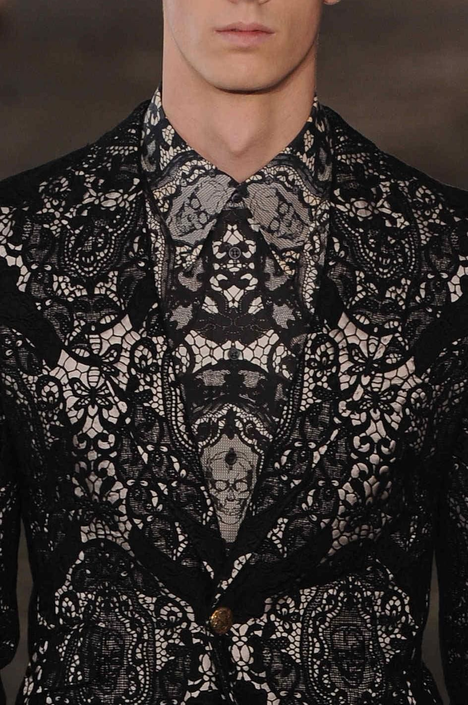 dacde7a51 Lace print for you brave guys - Alexander McQueen, of course | Men's ...